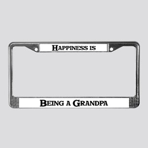 Happiness: Grandpa License Plate Frame